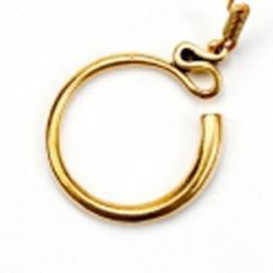 Schläfenring schlicht - Bronze / Paar