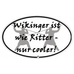 Aufkleber Wikinger vs Ritter